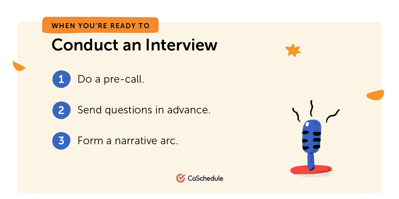 Steps to conducting an interview