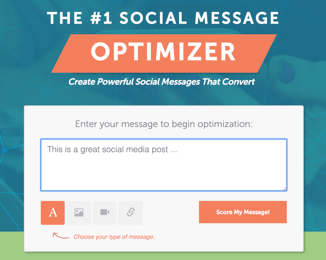 Getting started with the social message optimizer