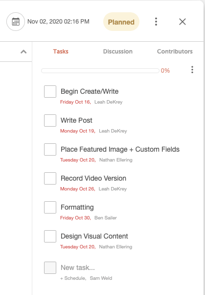 Using task templates