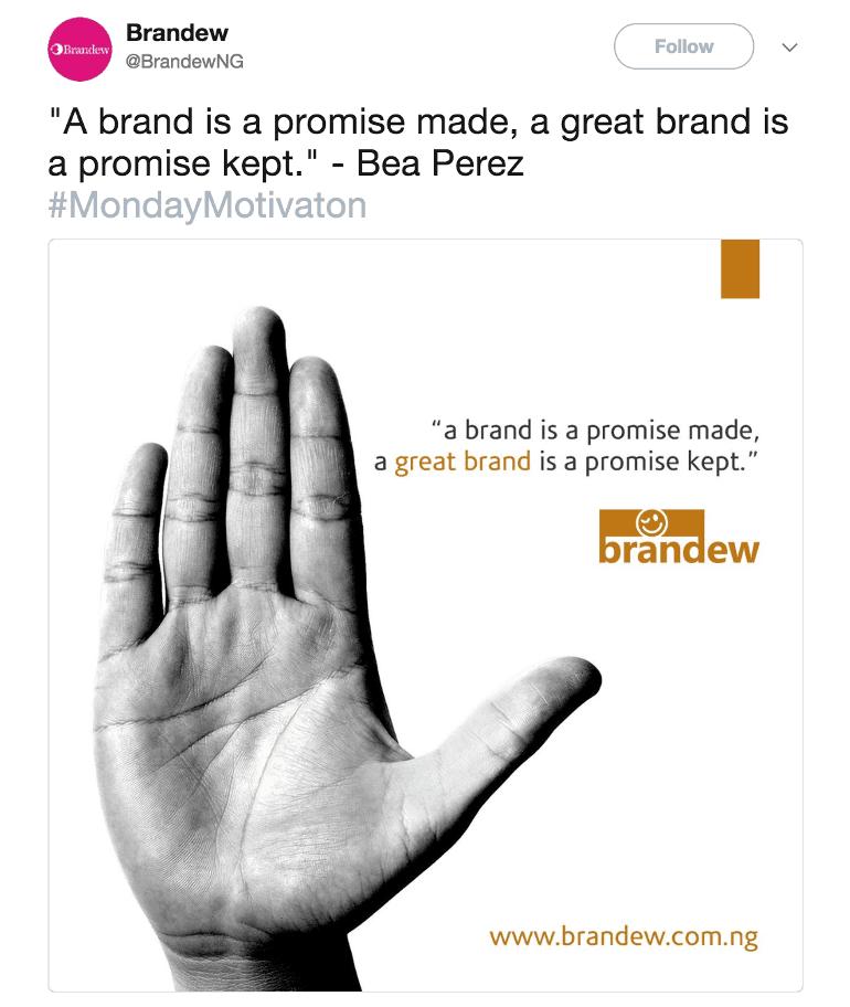 Brandew promise tweet