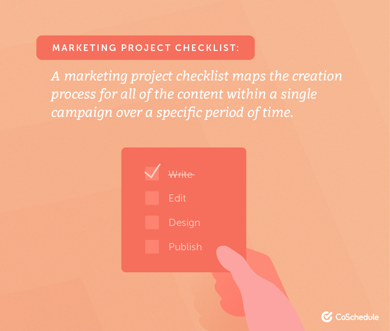 What is a marketing project checklist?