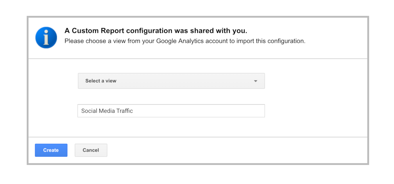 Setting up the custom report