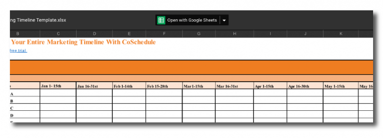 Opening a spreadsheet in Google Sheets