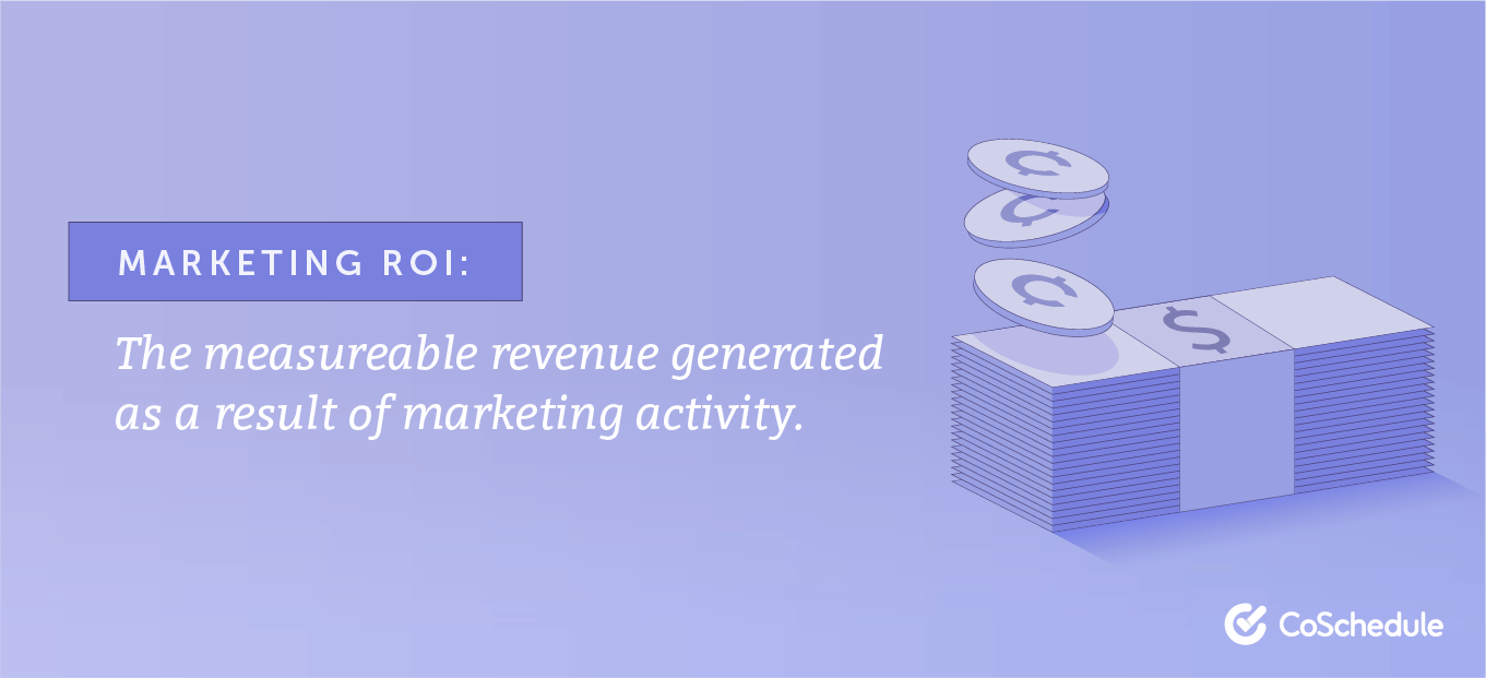 Definition of marketing ROI