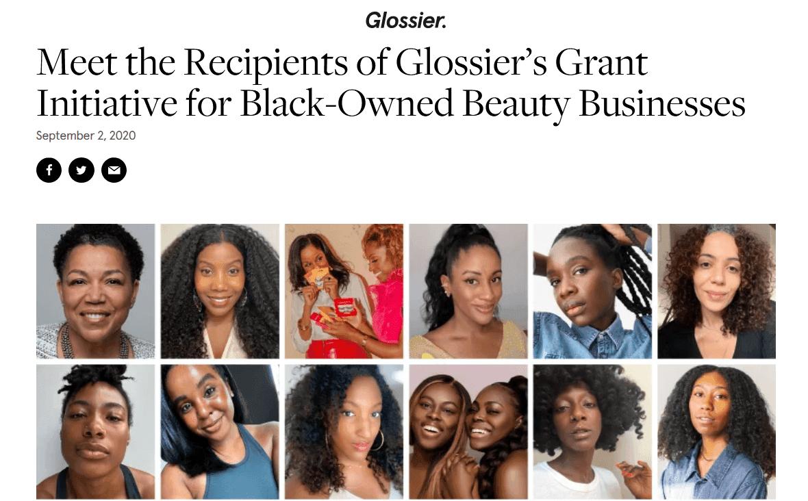Glossier blog post