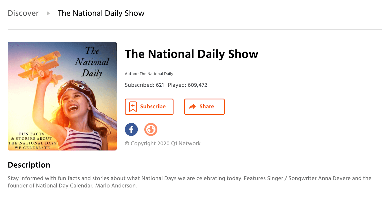 National Daily Show main page