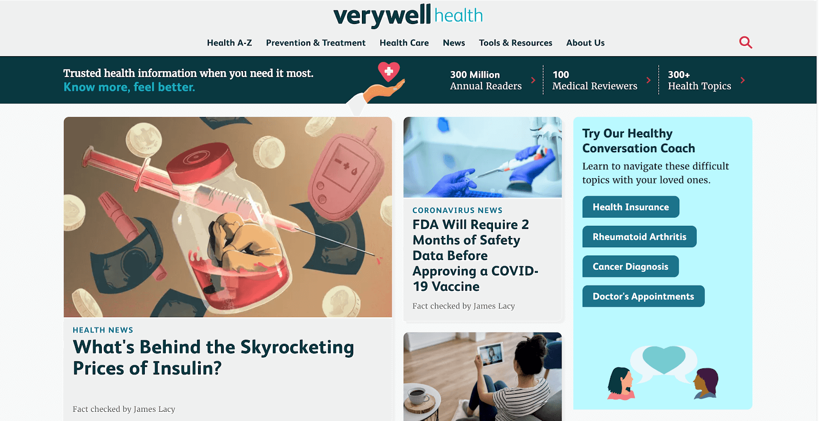 Headlines on VeryWell Health