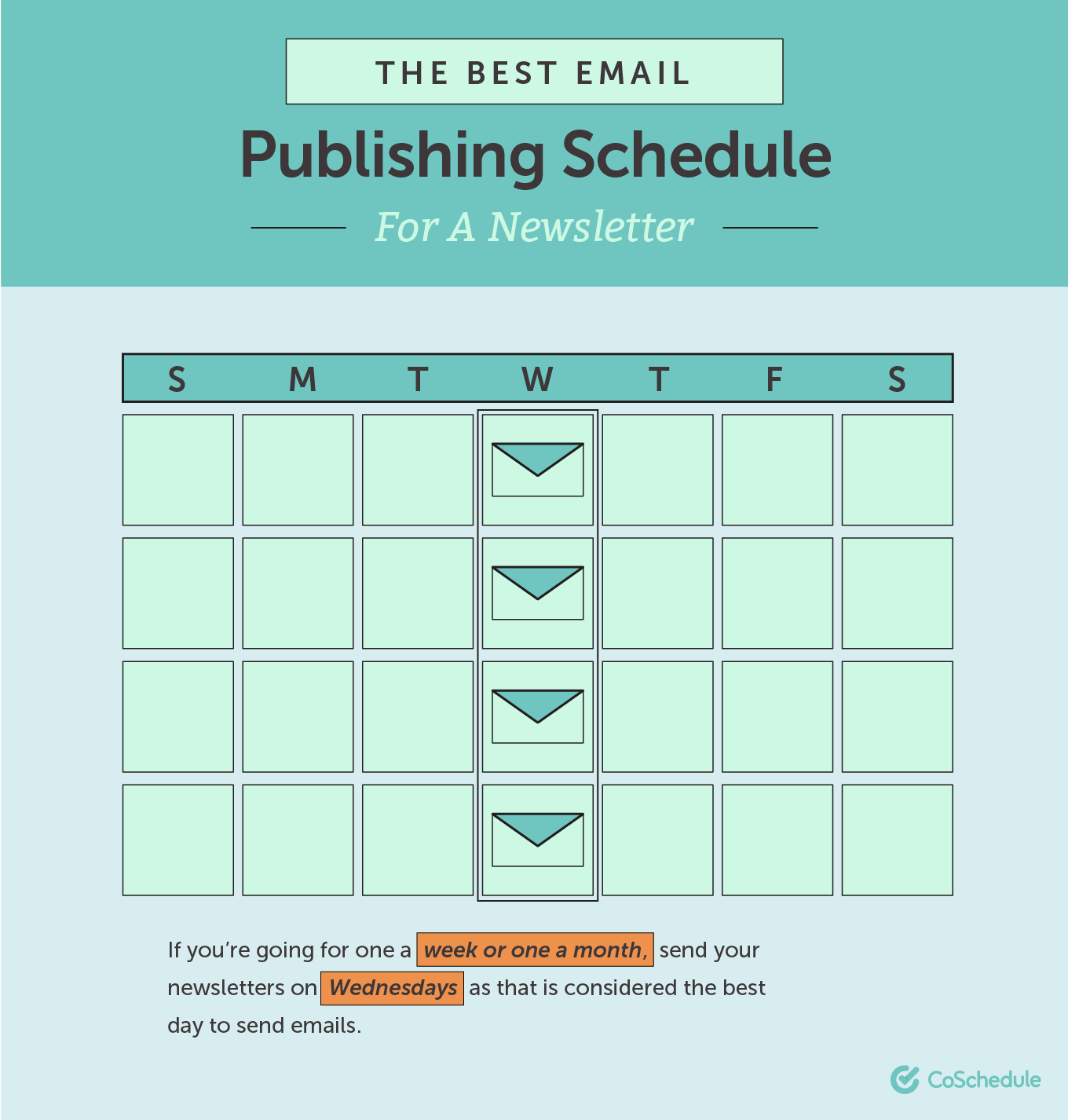 Best email publishing schedule for a newsletter