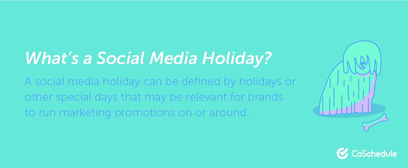 Definition of a social media holiday