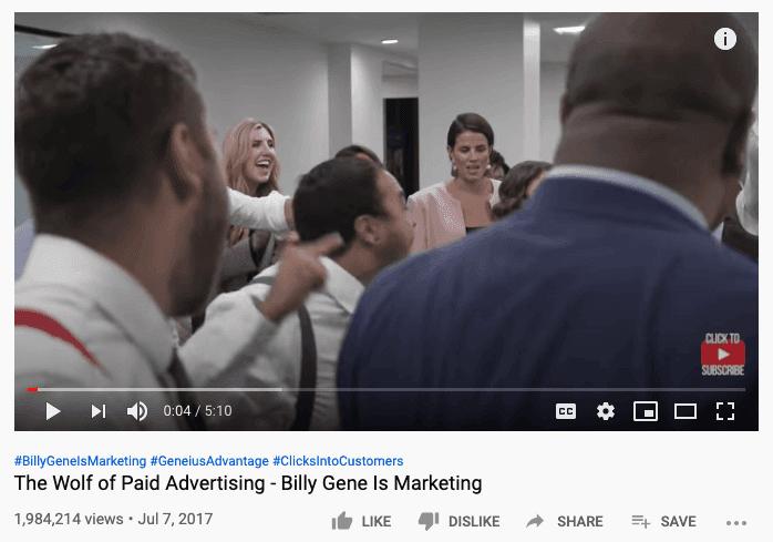 Billy Gene Is Marketing video