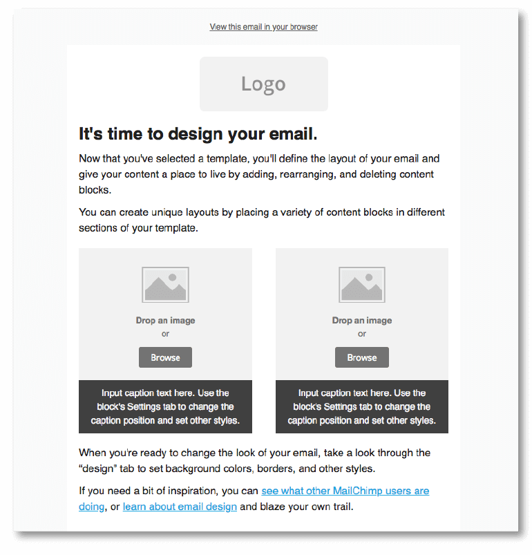 Email template (MailChimp)