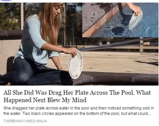Silly clickbait example
