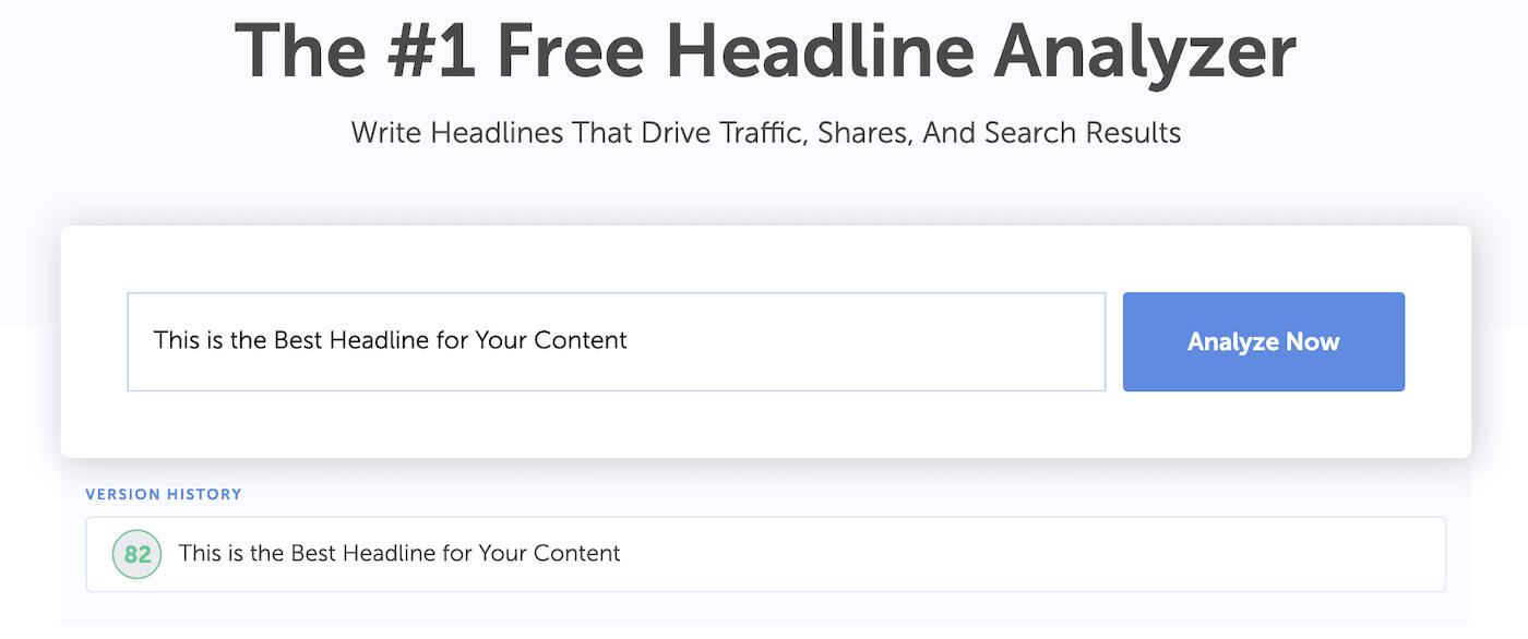 Headline Analyzer textbox