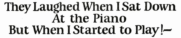 Ad headline