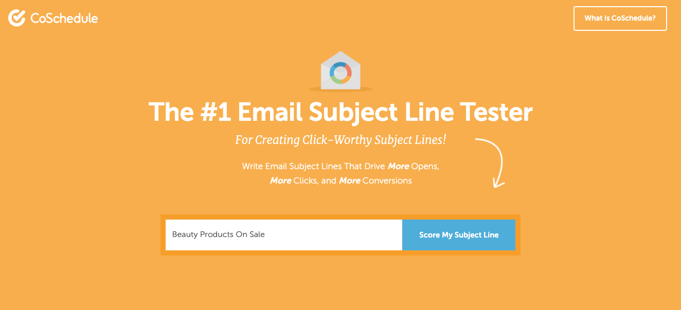 Email subject line tester from CoSchedule
