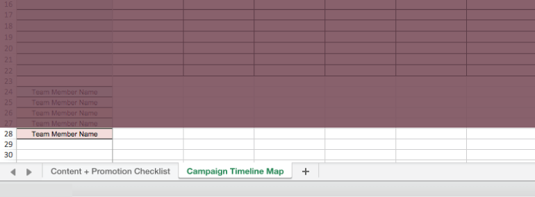 Example of a campaign timeline map