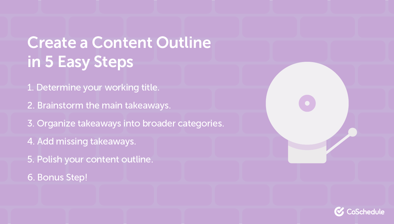 5 content outline steps