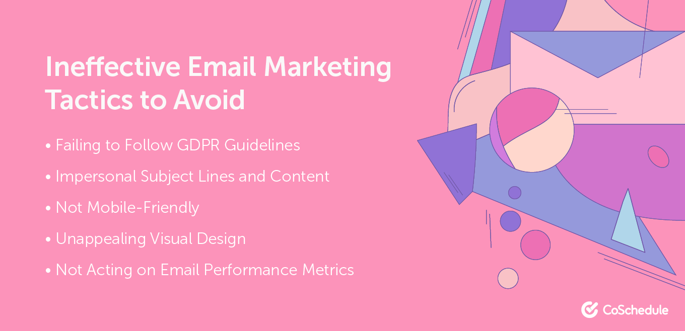 Email marketing tactics to avoid