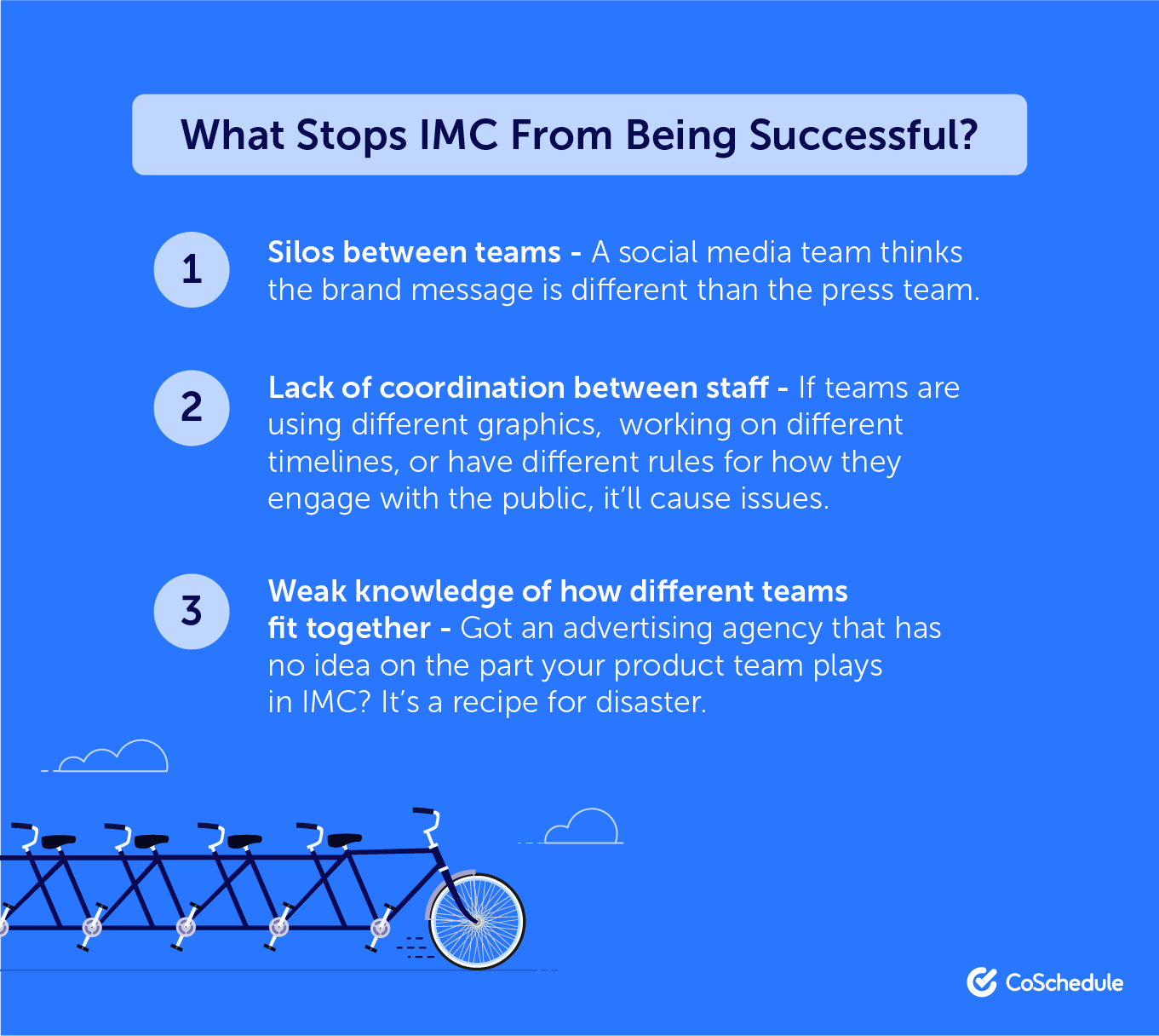 What stops the success of an integrated marketing campaign?