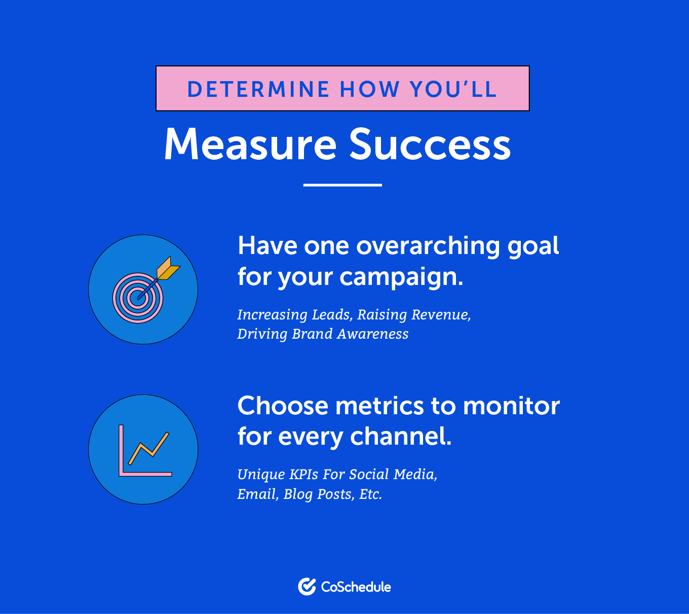 Determine how you'll measure success