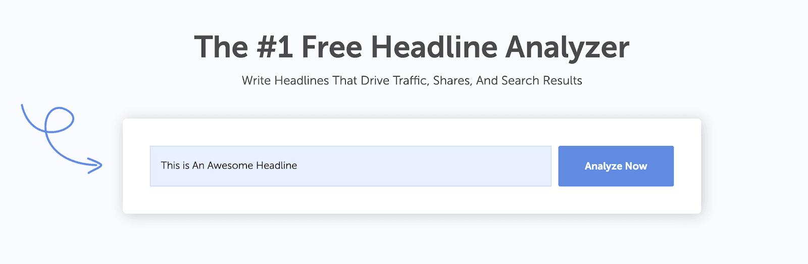 Headline Analyzer example headline