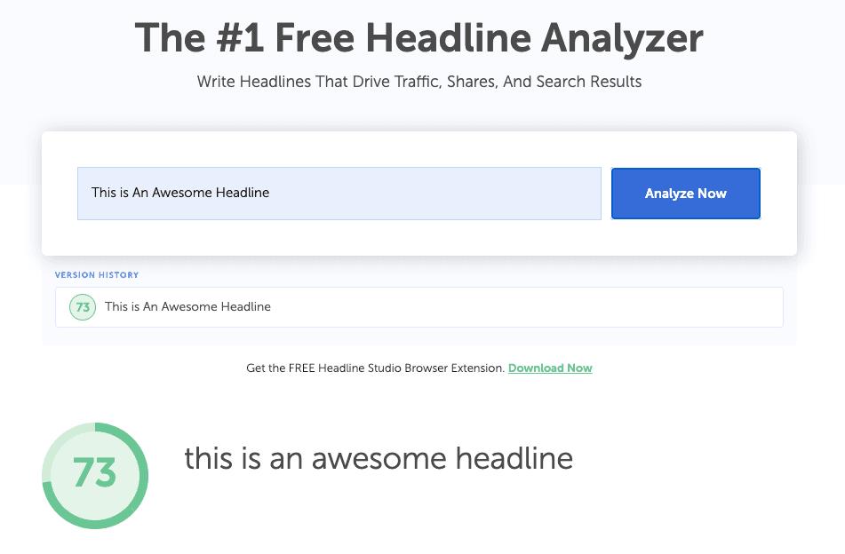 Headline Analyzer scoring