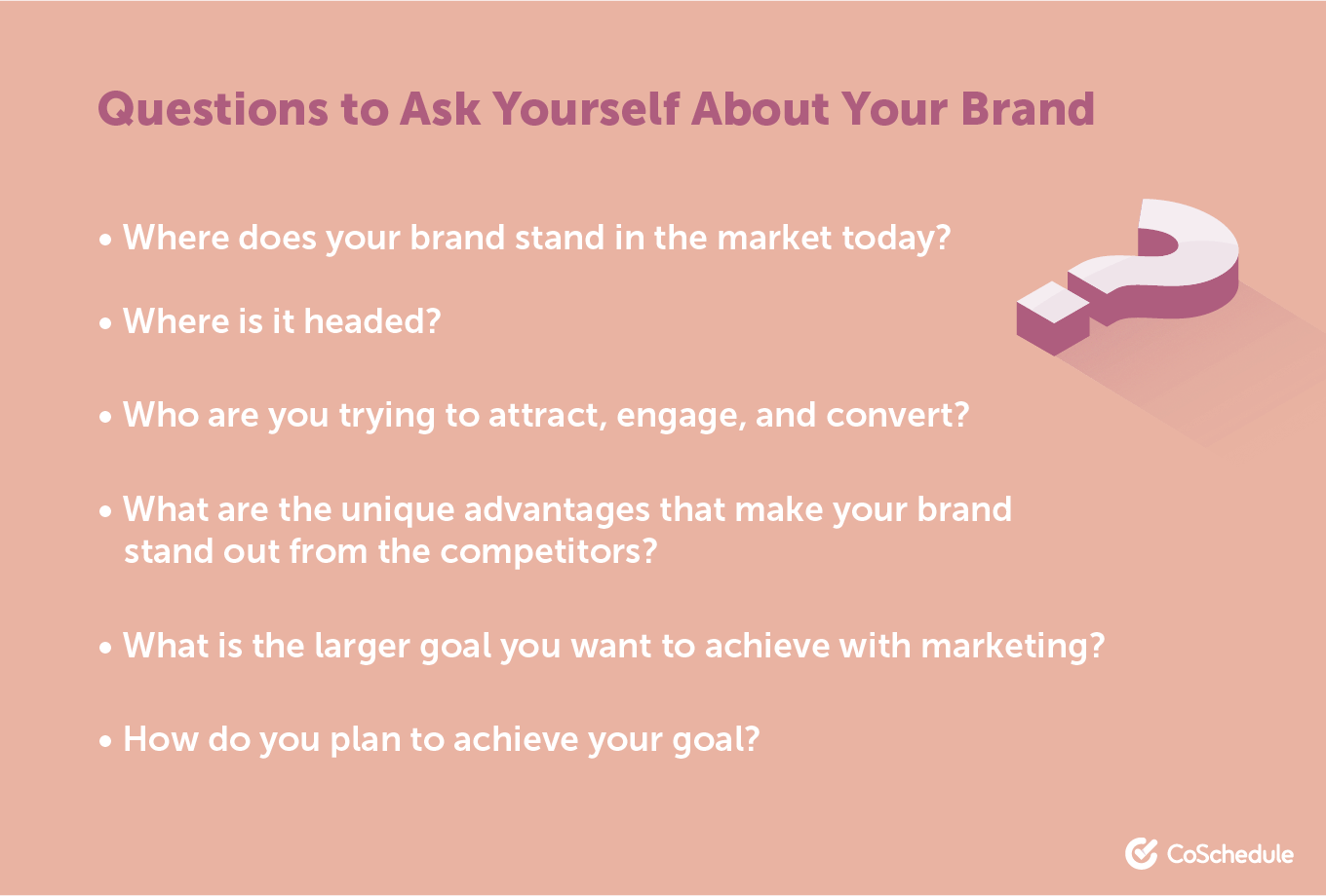 Questions to ask about your brand