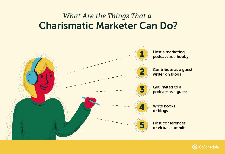 Charismatic marketer skills