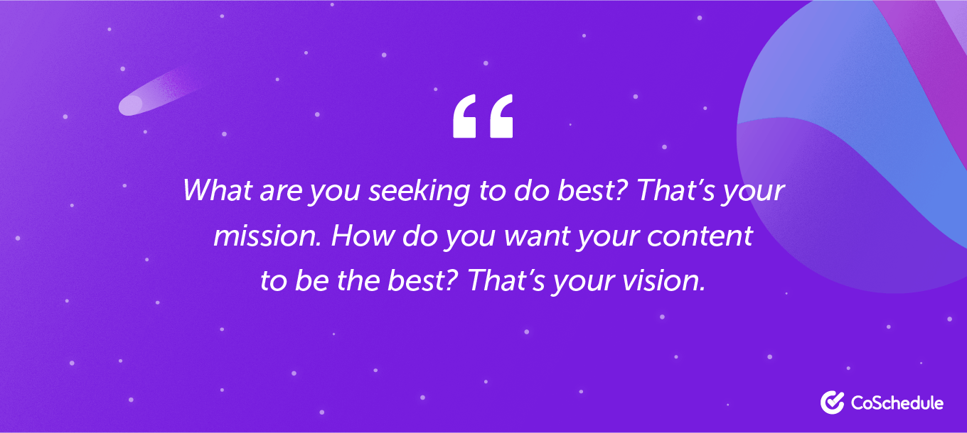 Quote about visions for your content