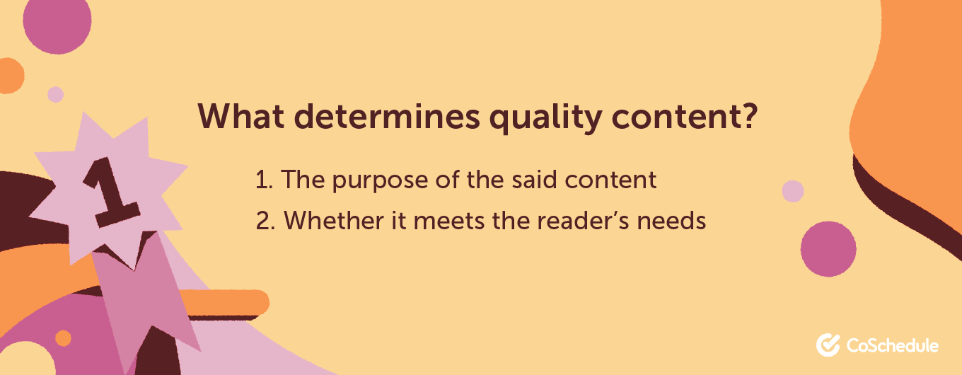 What determines quality content