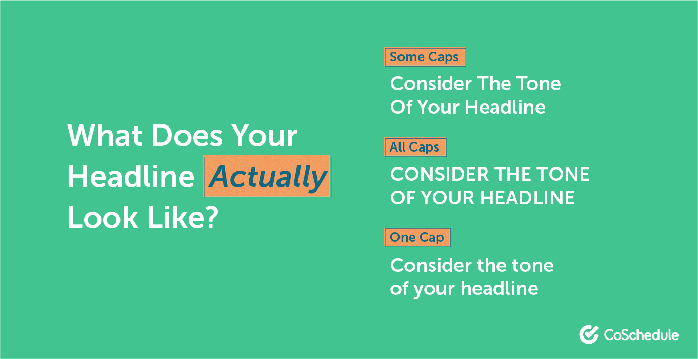 How to capitalize your headlines