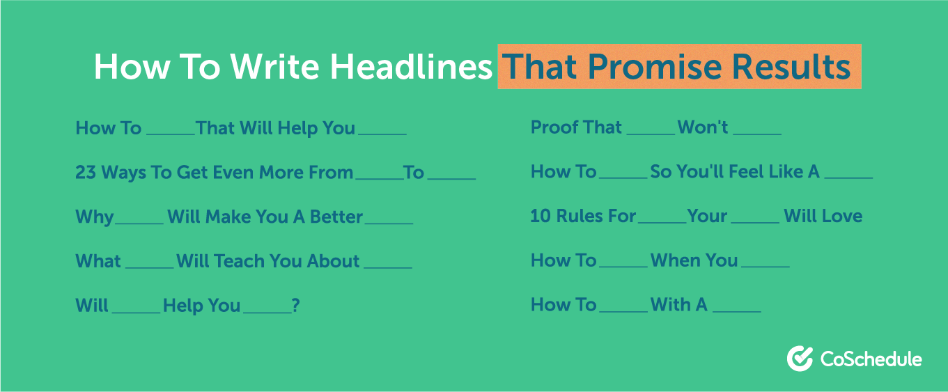 How to write headlines that promise results
