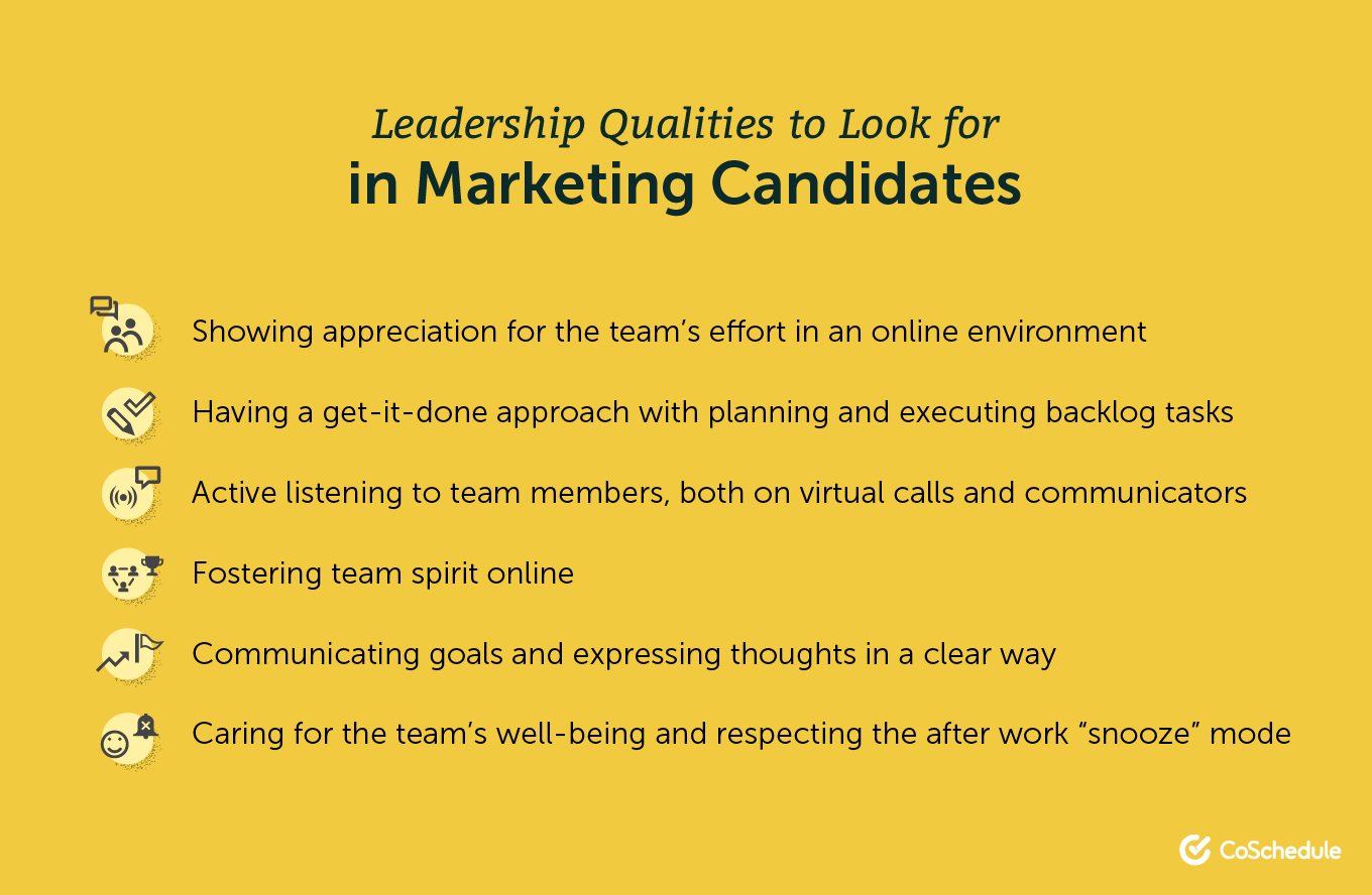 Leadership qualities to look for