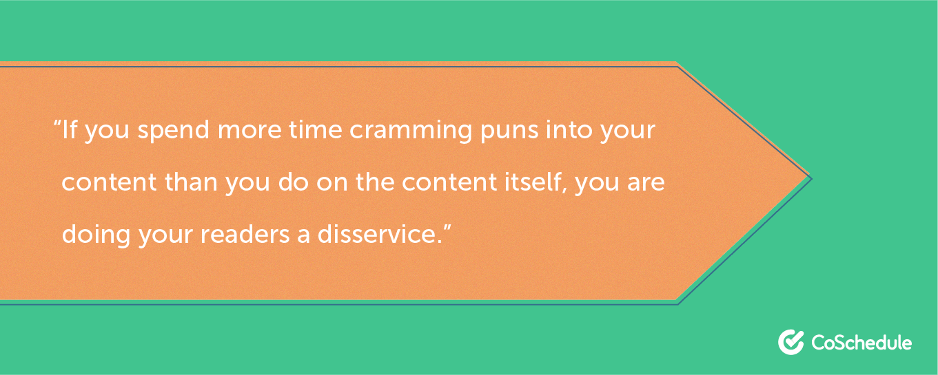 Quote about punny headlines