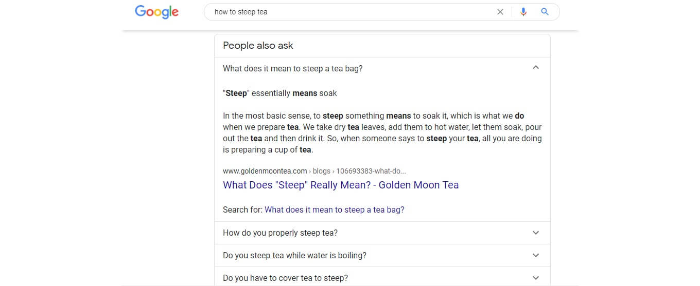 """Google's """"People Also Ask"""" box"""