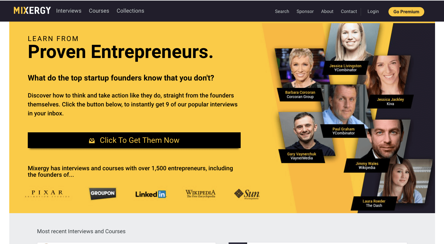 Mixergy and learning from other entrepreneurs