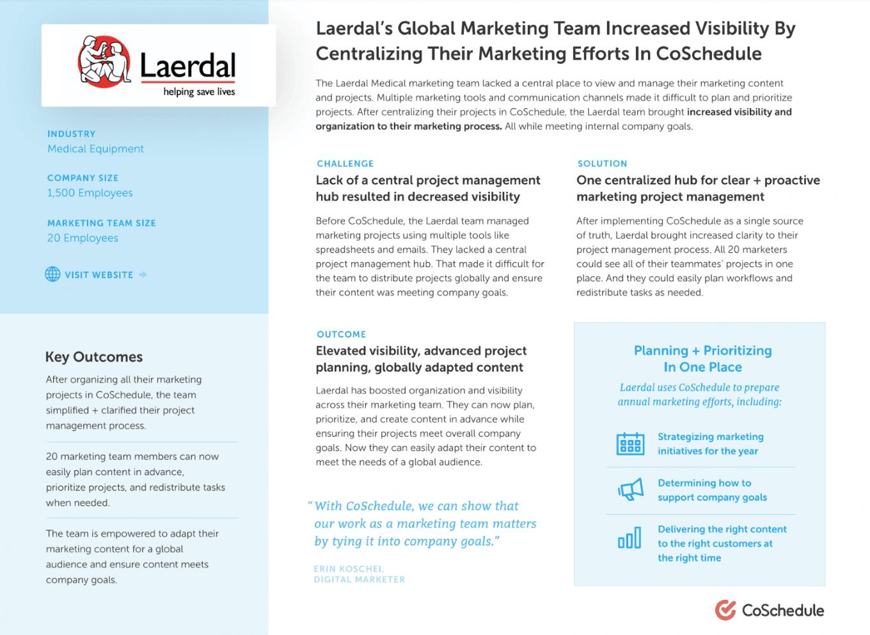 Laerdal case study