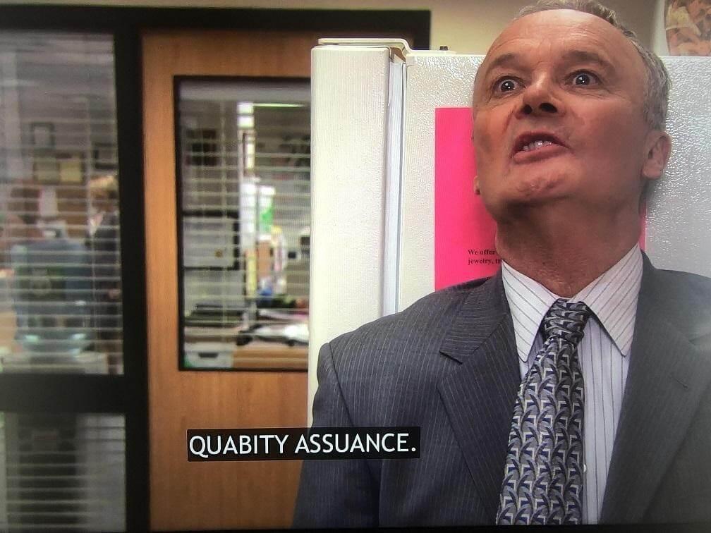 Quality assurance meme