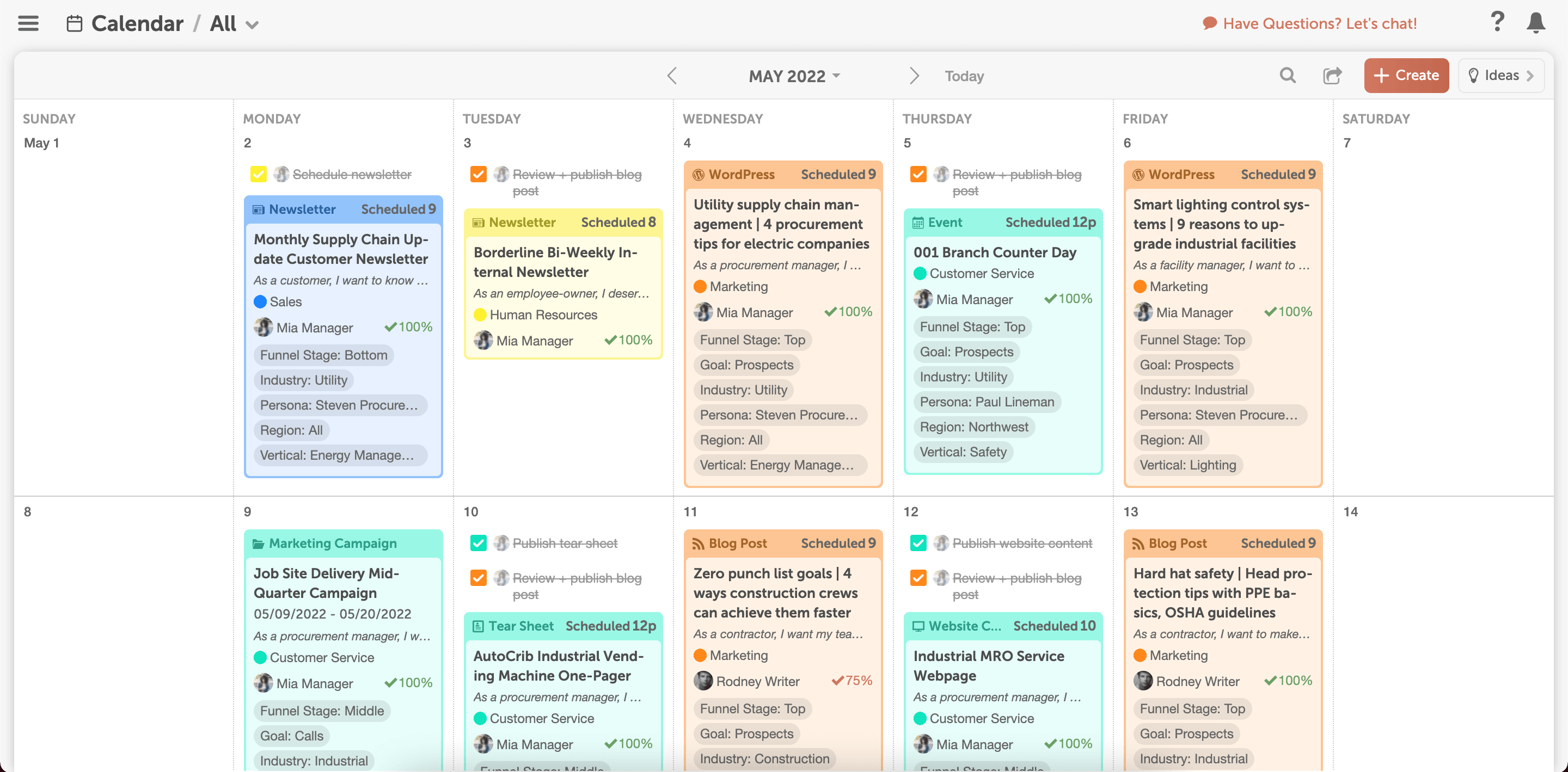 Marketing Calendar by CoSchedule