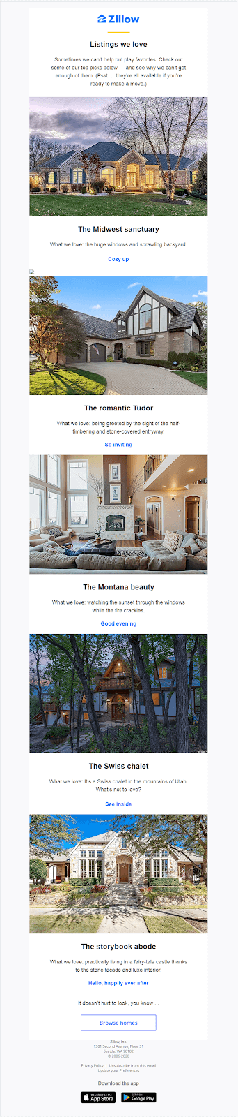 Zillow newsletter