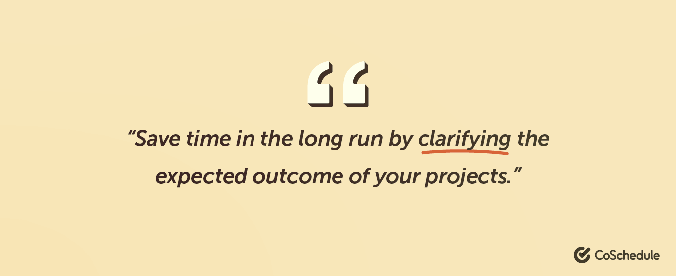 Quote regarding project clarification