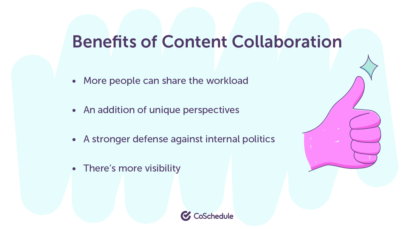 Benefits of content collaboration
