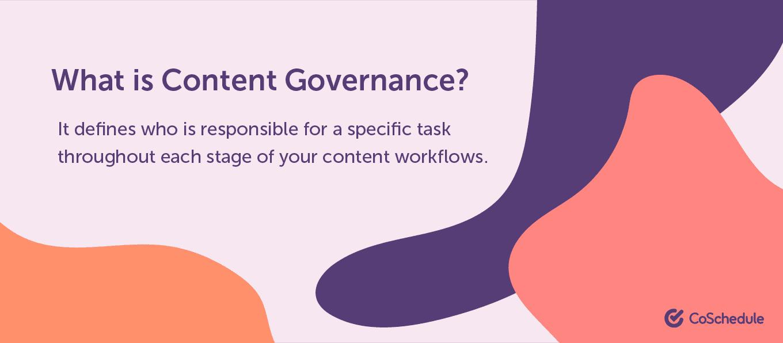 Content governance definition