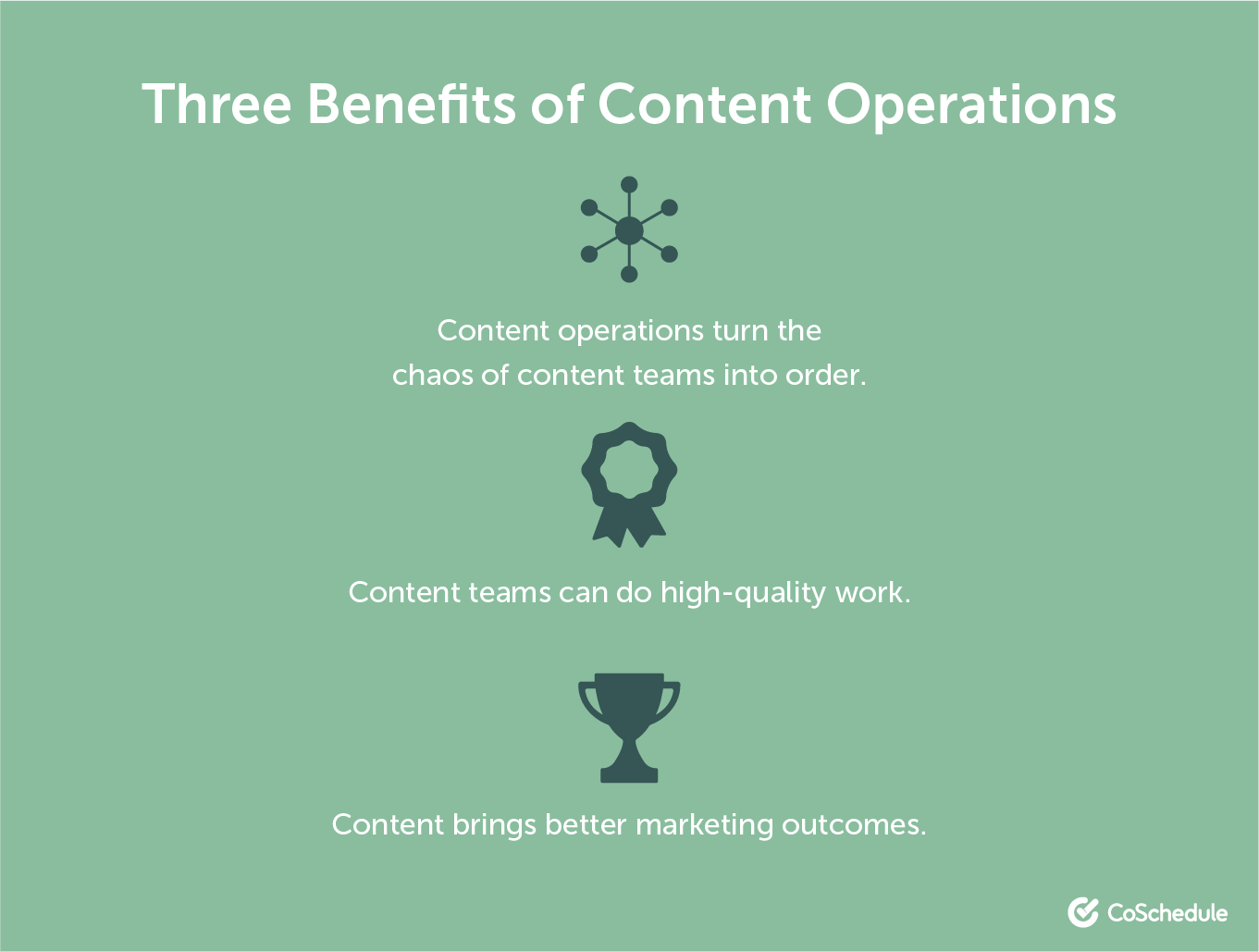 Three benefits to content operations