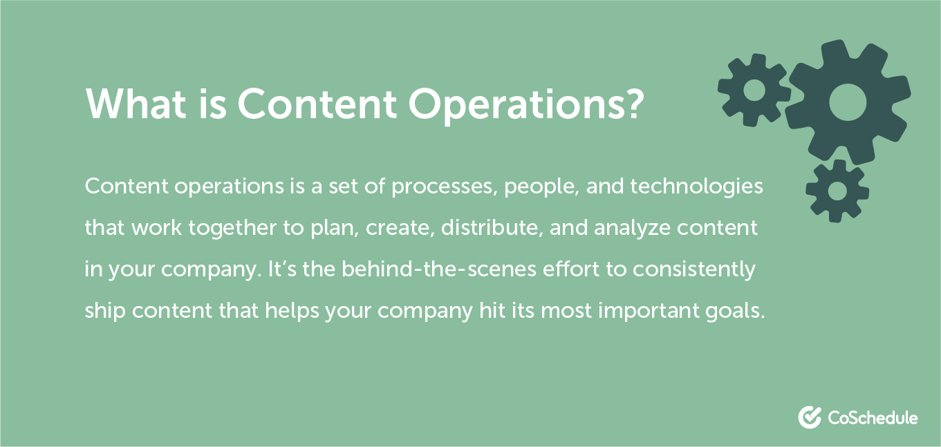 Definition of content operations