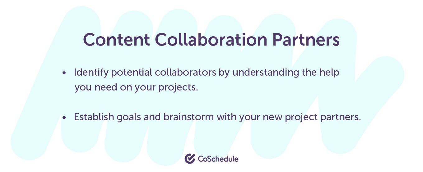 Content collaboration partners