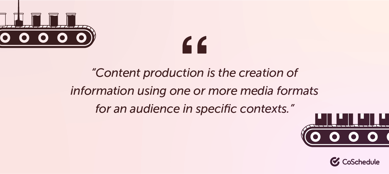 Definition of content production