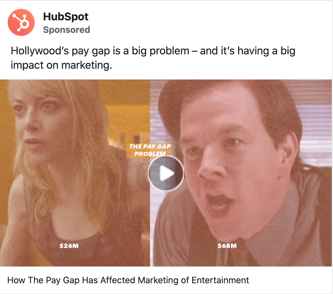 HubSpot ad