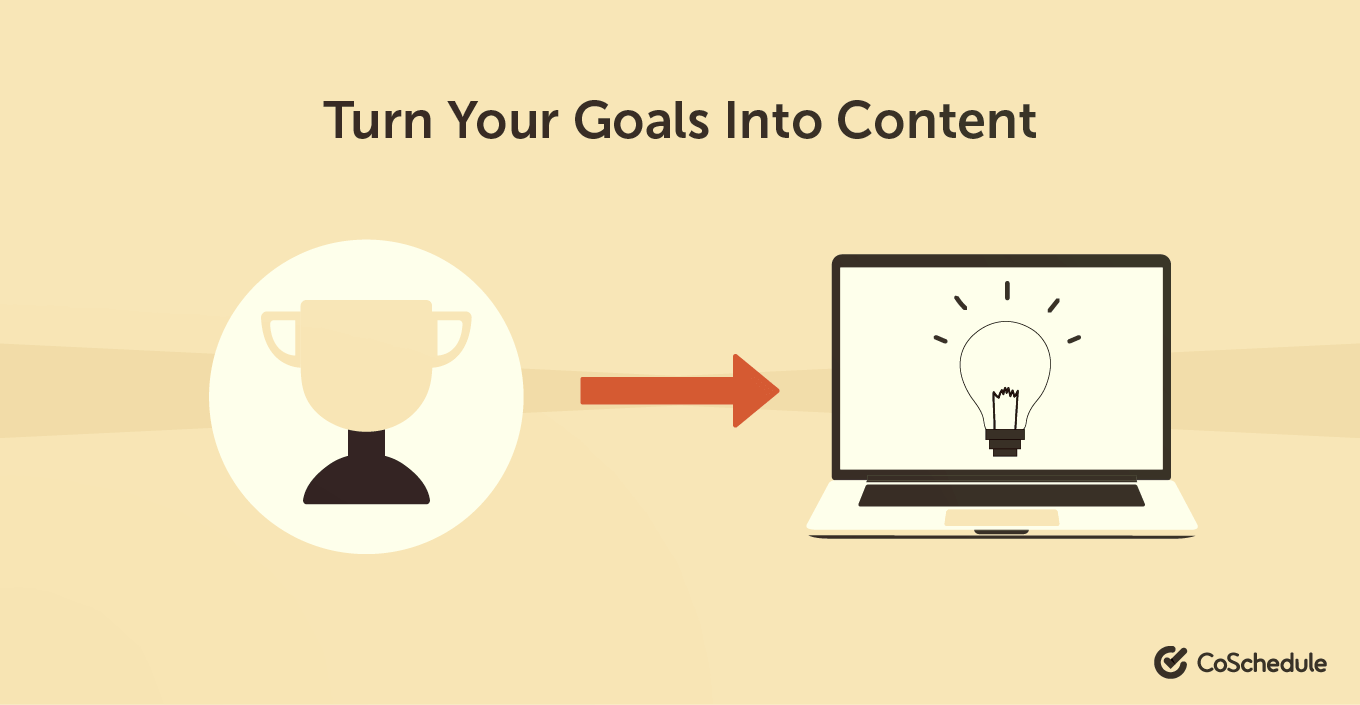 Turn your goals into content