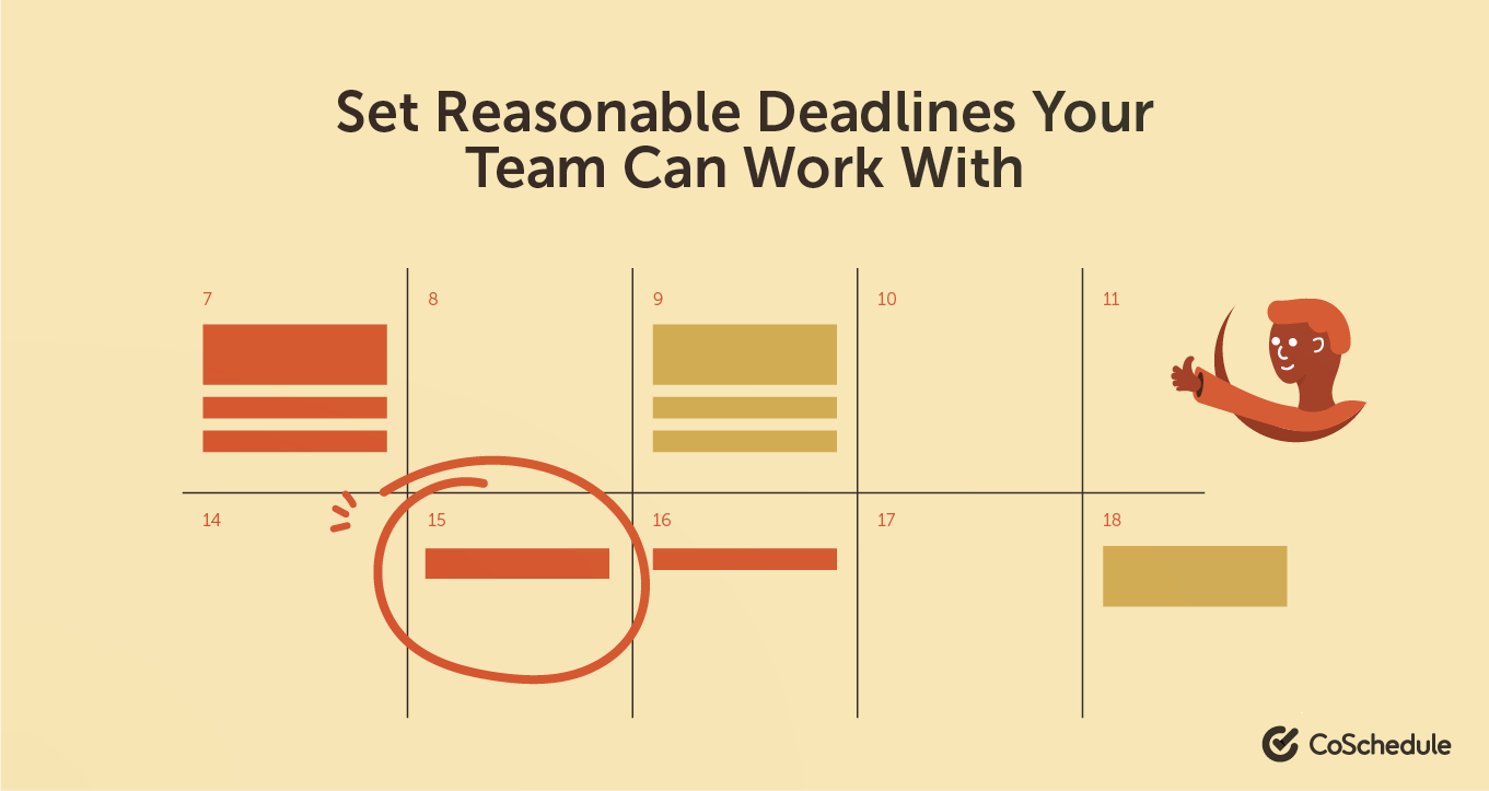 Set reasonable deadlines